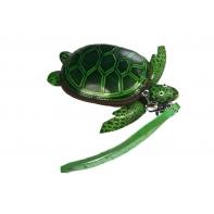 """Etui ART """"zielony żółw"""" ze skóry naturalnej"""