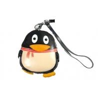 "Etui ART ""czarny pingwin"" ze skóry naturalnej"