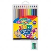12 grubych kredek ołówkowych Jumbo Colorino + temperówka