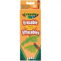 10 kredek ołówkowych ścieralnych z gumkami Crayola