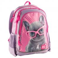 Plecak szkolny dla dziewczynki piesek w okularach Paso