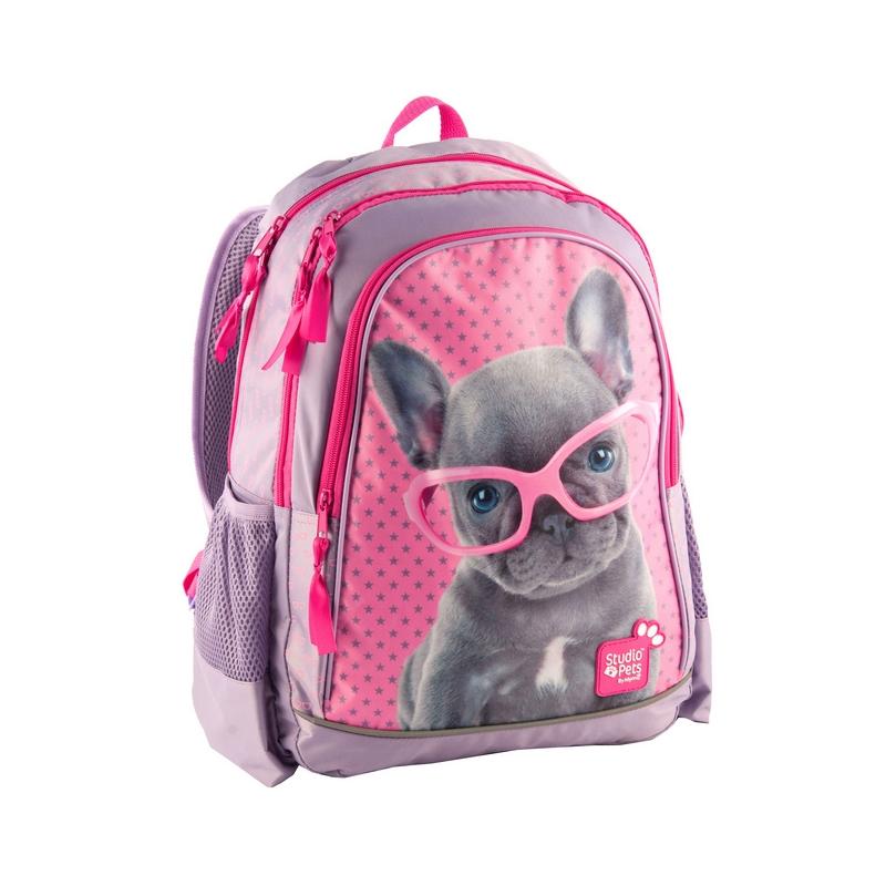 ddf72f963e92c Plecak szkolny dla dziewczynki piesek w okularach Paso