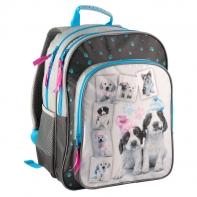 Plecak szkolny dla dziewczynki pieski w czapkach Paso
