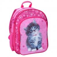 Plecak szkolny dla dziewczynki kotek w naszyjniku Paso