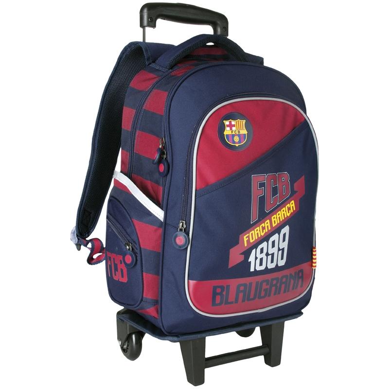 8824993ec75d0 Plecak szkolny na kółkach z odpinanym stelażem FC BARCELONA Barca ...