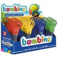Nożyczki 13,5 cm z plastikowymi uchwytami i podziałką Bambino