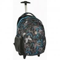 Plecak szkolny na kółkach Paso motyle