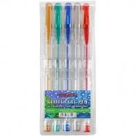 Zestaw 5 długopisów żelowych brokatowych TITANUM
