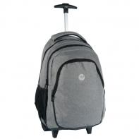 Plecak szkolny na kółkach Paso szary