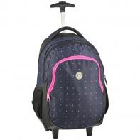 Plecak szkolny na kółkach Paso kropeczki