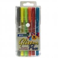 Zestaw 6 długopisów żelowych brokatowych PREMIUM Penword