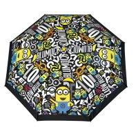 Składana parasolka dziecięca Minionki, czarna