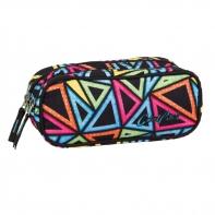 Saszetka piórnik szkolny Coolpack Clever, Color Triangles 654
