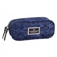 Saszetka piórnik szkolny Coolpack Clever, Jacquard Army Blue 717
