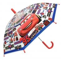 Dziecięca parasolka dziecięca Auta Cars, przezroczysta