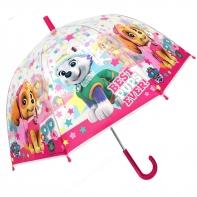 Dziecięca głęboka parasolka Psi Patrol, przezroczysta