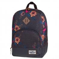 Bardzo lekki plecak szkolno - miejski CoolPack Classic 17 L, Grey Denim Flowers 1013