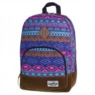 Bardzo lekki plecak szkolno - miejski CoolPack Classic 17 L, Blue Tribal 1014