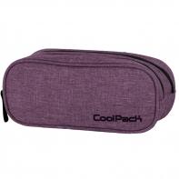 Saszetka piórnik szkolny Coolpack Clever, Snow Purple 853