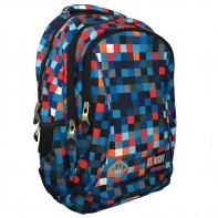 Dwukomorowy plecak szkolny St.Right 19 L, Pixelmania blue