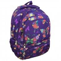 Dwukomorowy plecak szkolny St.Right 24 L, Butterfly