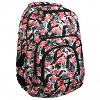 Dwukomorowy plecak szkolny St.Right 30 L, Flamingo Pink&Black