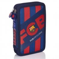 Piórnik podwójny z wyposażeniem FC-144 FC Barcelona Astra