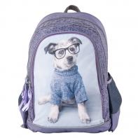 63208cb595fb8 Plecak szkolny dla dziewczynki Paso pies w okularach