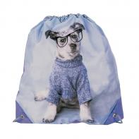 Worek szkolny Paso pies w okularach
