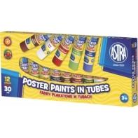 12 farb plakatowych w tubach Astra 12 x 30ml