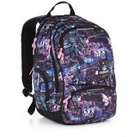 Dwukomorowy plecak młodzieżowy Topgal HIT 889