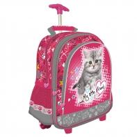 Plecak na kółkach dla dziewczynki My Little Friend kotek