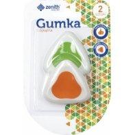 2 gumki ergonomiczne trójkątne Zenith