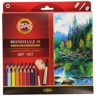 48 kredek ołówkowych akwarelowych sześciokątnych KOH-I-NOOR Mondeluz