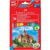 36 kredek ołówkowych sześciokątnych Faber-Castell + temperówka
