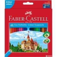 48 kredek ołówkowych sześciokątnych Faber-Castell + temperówka