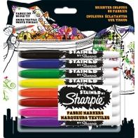 Zestaw 8 markerów do tkanin na blistrze SHARPIE