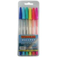 Zestaw 6 długopisów fluoroscencyjnych TITANUM fun&joy