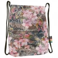 Worek na obuwie/plecak na sznurkach St.Right Flowers Pink SO-11