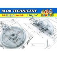 Blok techniczny biały 10 kartek A4