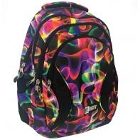 Trzykomorowy plecak szkolny St.Right 29 L, Illusion