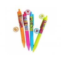 Zestaw 4 ekologicznych neonowych długopisów żelowych Smens, SCENTCO