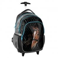 Plecak szkolny na kółkach z głową konia, Paso
