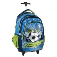 Plecak szkolny na kółkach piłka nożna, Football, Paso