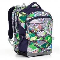 Plecak szkolny trzykomorowy dla chłopca Topgal COCO 17001