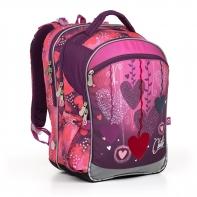 Plecak szkolny trzykomorowy dla dziewczynki Topgal COCO 17002