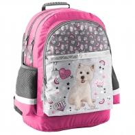 Lekki plecak szkolny z psem terierem, Paso