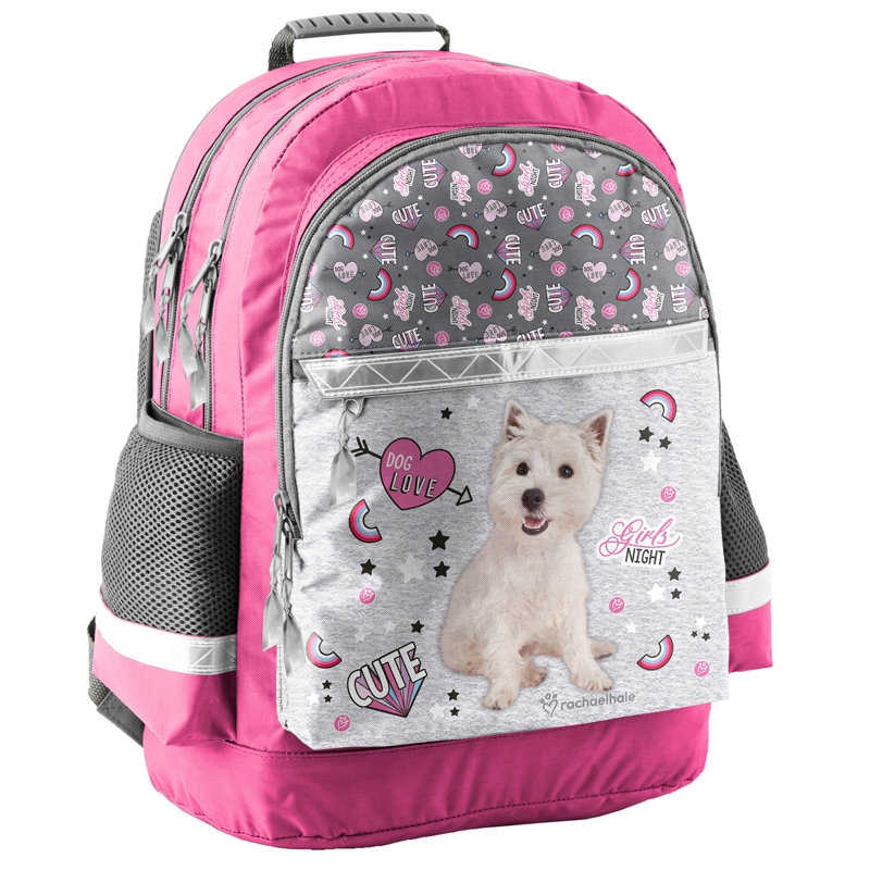 3a01d717b13c1 Lekki plecak szkolny z psem terierem