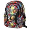 Trzykomorowy plecak szkolny St.Right 29 L, Fast Food BP2