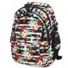Trzykomorowy plecak szkolny St.Right 29 L, Tropical Stripes BP1